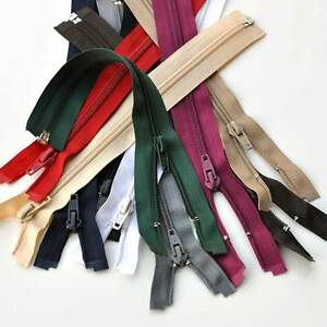 """Top Quality Nylon Open Ended Zip 10"""" - 36"""" 6 Colours - Fast Free Postage"""