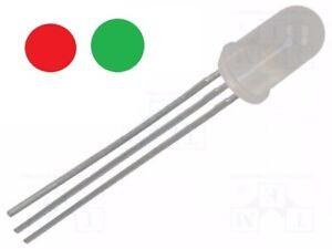 LED 5mm bicolore ROUGE JAUNE - VERT CATHODE diffusant DIY domotique