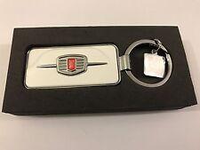 Schlüsselanhänger Fiat 500 in weiß