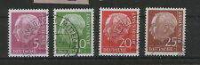 GERMANY-USED STAMPS-Mi.No. 179y, 183y, 185y, 186y -HIGH CV- 1960.