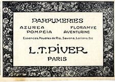 L.T.Piver Paris Parfumeriers I. Historische Annonce 1913