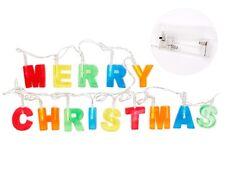 Guirlande lumineuse multicolore à LED Merry Christmas décoration Noël  (99/0101)