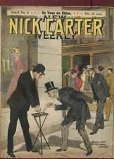 FASCICULE NICK CARTER SERIE II N°11 ED A. EICHLER. DEBUT DE SIECLE.