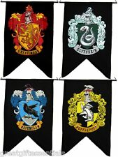Harry Potter HOUSE WALL 4 BANNER SET Ravenclaw Slytherin Hufflepuff Gryffindor