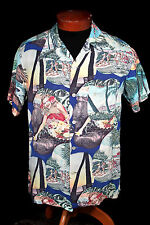 Rare Collectible 1939-Early 1940'S Silky Rayon Photo Hawaiian Shirt
