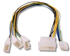 Fan Splitter 4 pin Molex > 3 Qty PWM headers 30cm long Evercool EC-DF002