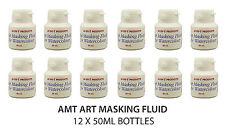 AMT Art Masking Fluid for Watercolour Painting | 12 x 50ml Bottles