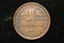 "c1837. United States. One Cent, Hard Times Token. ""Abraham Riker, NY"""
