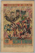 1975 GIANT-SIZE X-MEN #1 (Coverless) KEY 1ST APP NEW TEAM WOLVERINE COCKRUM ART