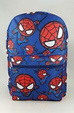 "Marvel Comics * SPIDER-MAN All Over Print 16"" School Blue Backpack-5024"