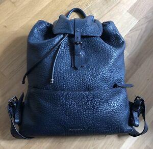 Burberry Unisex Men's / Ladies  Blue Leather Backpack Rucksack RRP: £1200