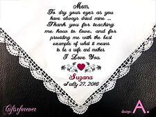 2 Personalized Wedding Handkerchief For Parent