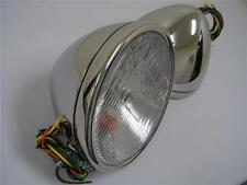 1928 1929 Ford Model A Stainless Headlights Head Lamps w/ Turn Signal 12 volt