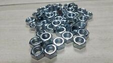 50 Hex Nuts 5/16 - 18 Coarse Thread Zinc Plated Steel