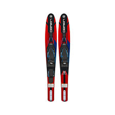 O'Brien Vortex Combo 65.5 In Adult Widebody Water Skis, Men's US 4.5 to 13, Red