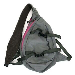 Patagonia Atom 8L Cross Body Sling Bag Multi Pocket Gray/Pink Backpack Hiking