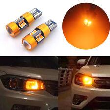 2x Amber Car Position Parking City Lights T10 168 194 2825 W5W 19-SMD LED Bulb