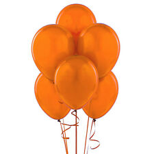 "144 Latex Balloons 12"" with Clips and Curling Ribbon - Orange"