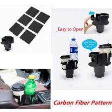 Universal Carbon Fiber Drink Bottle Phone Mount Organizer Car Cup Holder Stand