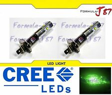 CREE LED 30W H1 GREEN TWO BULB HEAD LIGHT JDM SHOW OFF ROAD LAMP REPLACEMENT K
