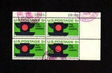 SCOTT # 1272 Traffic Safety Issue U.S. Stamps Used - NH Plate Block of 4