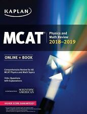 Kaplan MCAT Physics and Math Review 2018-2019 (Online + Book)