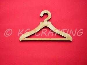 COAT HANGER FOR DOLL'S CLOTHES  x 6 - 10cm wide LASER CUT MDF
