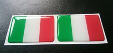 2 X Italy Flag Resin 3D Domed Italian Sticker label 5cm x 3cm self adhesive