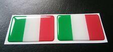 2 X 3D Italia Bandera De Resina Domed italiano Etiqueta Adhesiva 5 cm X 3 CM AUTOADHESIVAS