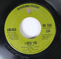 Rock 45 America - I Need You / Riverside On Warner Bros. Records