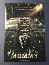 THE MUMMY CAST HAND SIGNED 12x18 PHOTO MOVIE POSTER AUTOGRAPHED SOFIA BOUTELLA