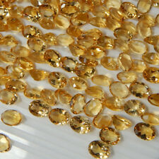 Natural Citrine 4x6mm Oval Cut 10 Pieces Top Quality AA Color Loose Gemstone AU