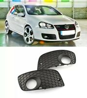 BRAND NEW 2pcs Black Front Bumper Left Right Grill for VW Golf MK5 GTI 04-09