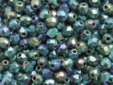 3mm Facet 100pcs Czech Fire Polished Small Glass Round Beads Faceted EU
