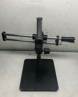 DOUBLE ARM MICROSCOPE HOLDER SCIENSCOPE BOOM STAND LABORATORY