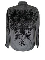 Xtreme Couture by Affliction Mens Button Down Shirt MAJESTY Cross Wings Small