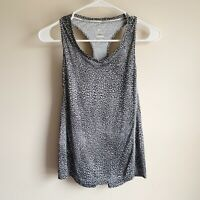 Nike Running Black White Patterned Racerback Active Athletic Tank Top Size Small