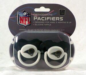 Los Angeles LA Rams / St Louis Baby Infant PACIFIER ~ Set of 2 ~ BPA Free