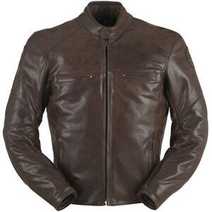 Furygan Vince Corsaire Retro Leather Motorcycle Jacket - Brown RRP £429