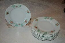 Set of 8 Antique Carmen Germany Plates Dessert/Luncheon Size w/ Floral Detail