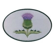 1 x Scottish Thistle Sew 'n' Iron on Patch Motif Design B