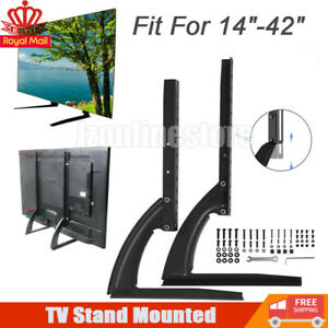 Universal Adjustable Tabletop TV Stand Bracket Mount Base For 14~42'' in Screen