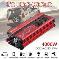 4000W DC12V à AC220V LED Digital Display Power Inverter Onduleur Convertisseur U