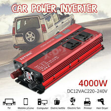 4000W DC12V à AC220V LED Digital Display Power Inverter Onduleur Convertisseur U