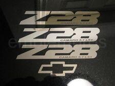 GM LICENSED, 93-02 CAMARO Z28 SET STAINLESS STEEL BADGE EMBLEM SET, CUSTOM TEXT