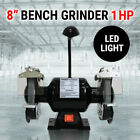"8"" Bench Grinder 1HP 750W 200mm Knife Sharpener Power Tool Industrial Grinding"