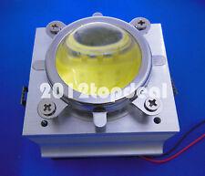 20-100W LED Aluminium Heat Sink Cooling Fan+90-120°44mm Lens + Reflector Bracket