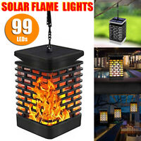 Solar Led Flame Lights Hanging Lantern Flickering Garden Hanging Lamp Waterproof