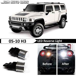 White High Power Reverse Backup 3157 LED Lights Bulb Fits Hummer H3 2005-2010