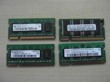 Lote de trabajo de memoria portátil DDR2 de 200 Clavijas 3x512mb, 1x256mb